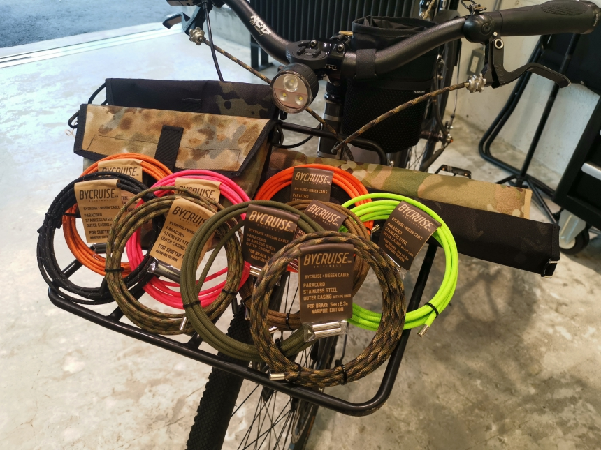New item : BYCRUISE ORIGINALS/ PARACORD ,  FRAME PAD , SADDLE BAG