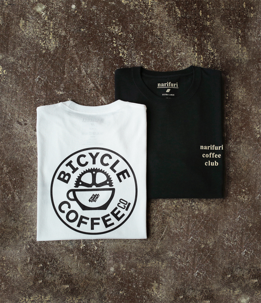 narifuri×BICYCLE COFFEE 限定Tシャツ